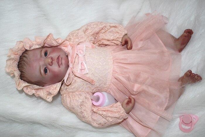 22 pouces Reborn bébé fille bambin réaliste Silicone poupées Reborn bébé enseignement poupée et vêtements