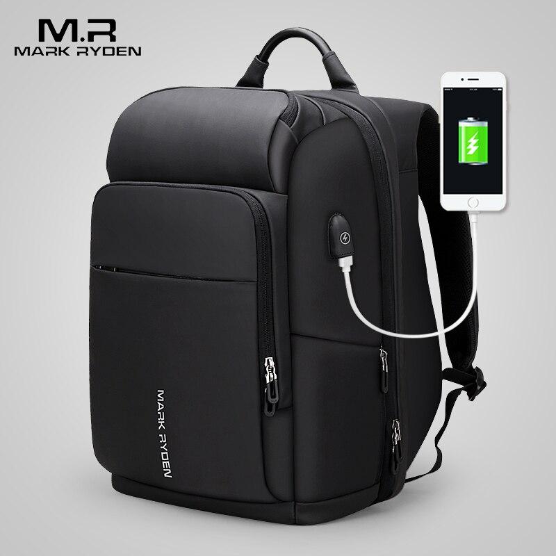 Mochila MARK RYDEN para ordenador portátil de 15 pulgadas para hombre, bolsa funcional impermeable con puerto USB, mochila de viaje para hombre