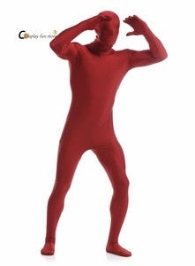 2018 Adult Full Body Spandex Lycra Zentai Suit Wine red Tight Suits Pure Color Halloween Party Unitard Customize for special use