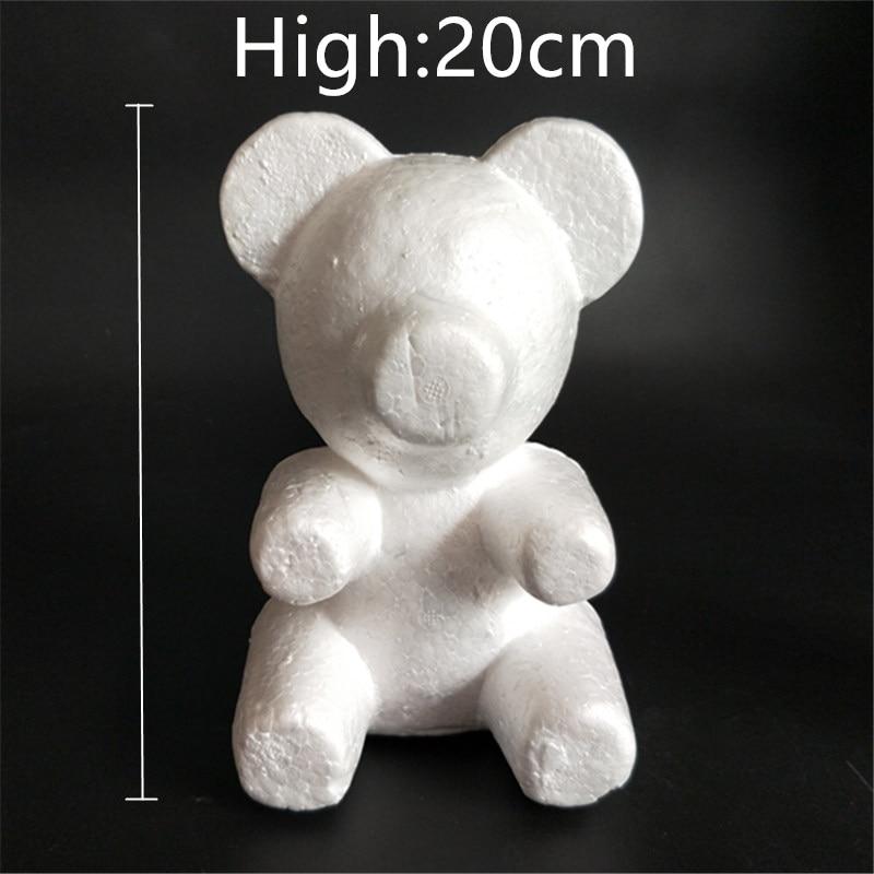 1 pcs 160mm Modelling Poliestireno Isopor Espuma urso Branco Bolas de Artesanato Para DIY Presentes de Natal Fontes Do Partido Decoração
