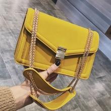 Retro Mode Vrouwelijke Vierkante Zak 2020 Nieuwe Hoge Kwaliteit Matte Pu Leer Vrouwen Designer Handtas Keten Schouder Messenger Bags