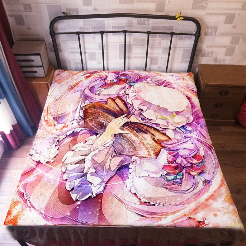 أنيمي مانغا توهو مشروع غطاء سرير 150*200 سنتيمتر ملاءات 009