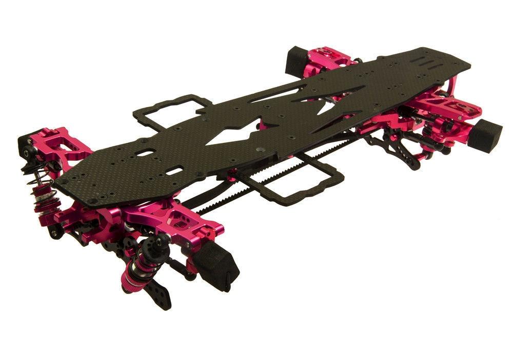 1Set D3 CS 3R OP 110 RC 1/10 deriva de marco de coche Kit de aleación de carbono y SAKURA