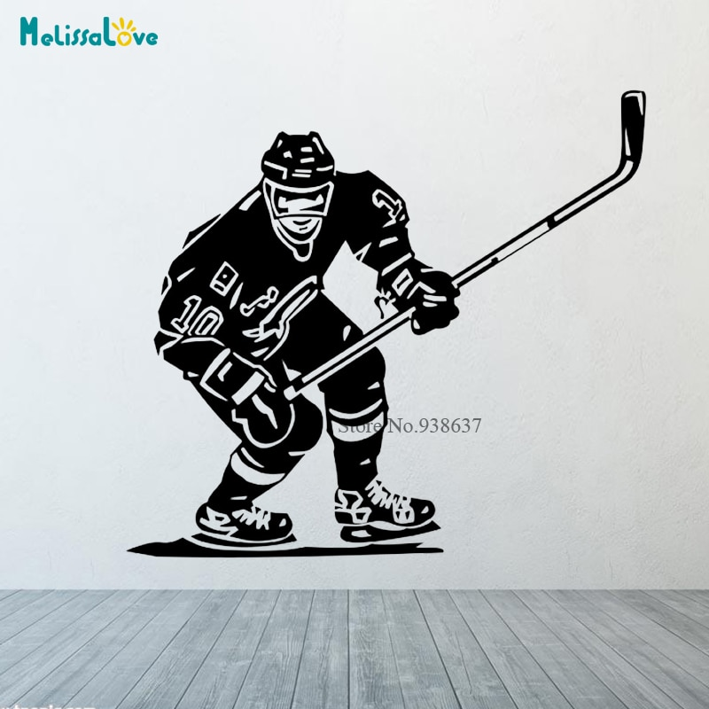 Art design home dekoration vinyl eishockey günstige wand Aufkleber Abnehmbar haus dekor sport aufkleber in zimmer CL305