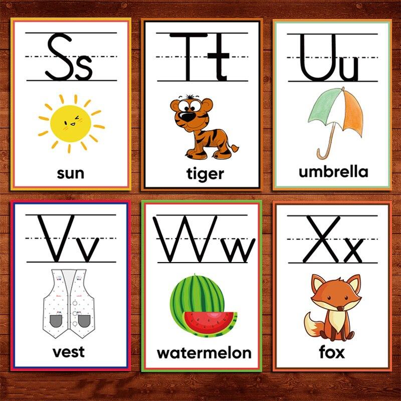 DDWE 26 Teile/satz Englisch ABC Alphabet Flash Karte Antwort Blatt Frage Kind Früh Lernen Pädagogisches Spielzeug Für Kinder Spiel Puzzle