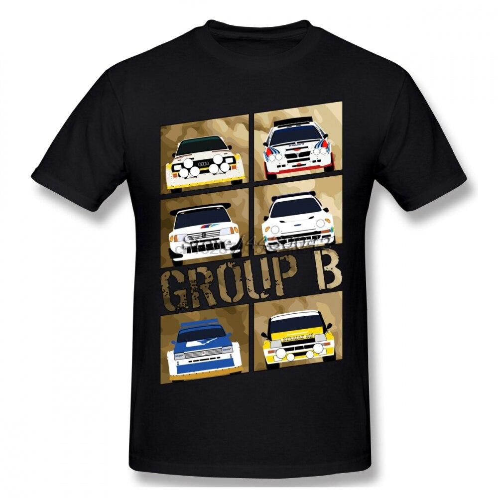 Group B Rally Car T-shirt For Men Plus Size Cotton Team Tee Shirt 4XL 5XL 6XL Camiseta