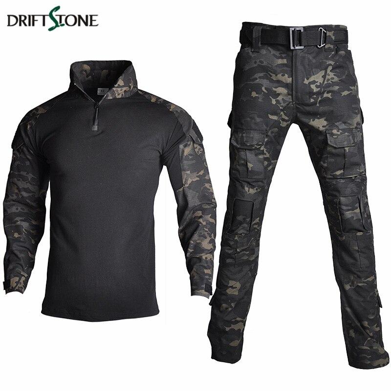 Camouflage RU Militärische Taktische Uniform Kleidung Männer UNS Armee Kampf Kleidung Set Paintball Airsoft Hemd Und Cargo Hosen Keine Pads