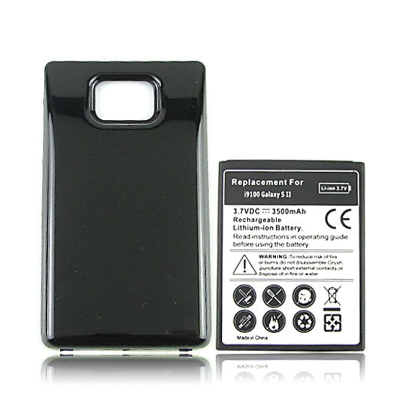 Extended Thicker 3500mAh Replacement Battery For Samsung Galaxy S2 SII i9100 Battery with Back Cover Case for Galaxy S2 i9100
