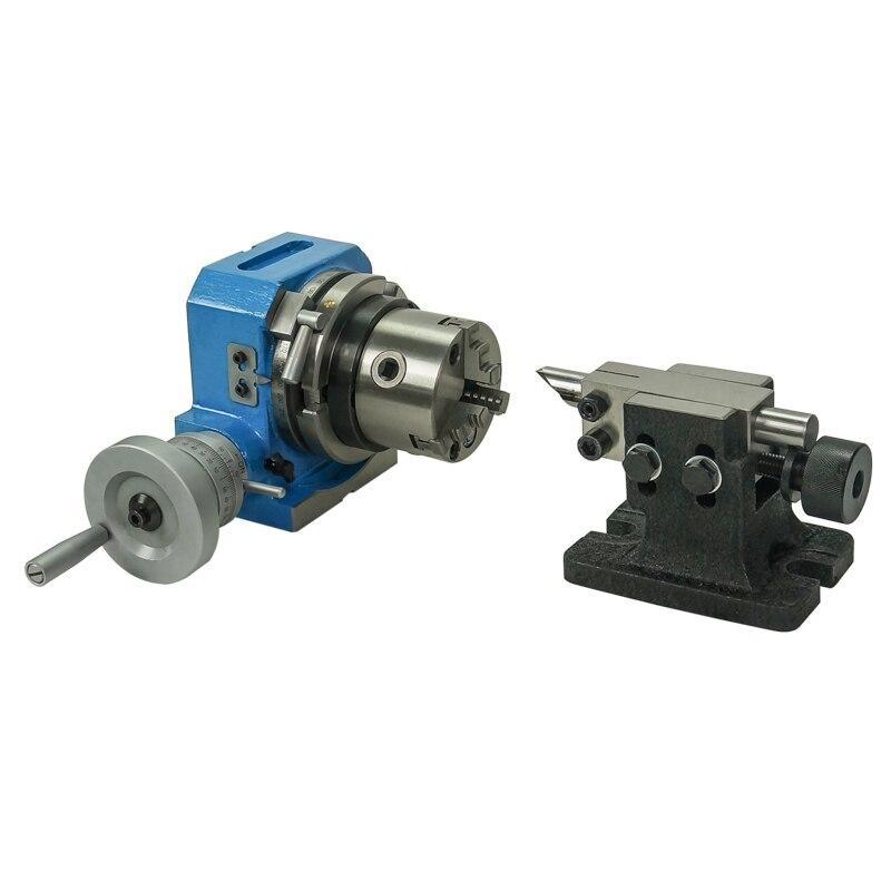 Fresadora de HV-4 pulgadas 80mm HV-6 125mm mesa de indexación Horizontal Vertical divisor giratorio 6 cabeza de división 10 Aliquot