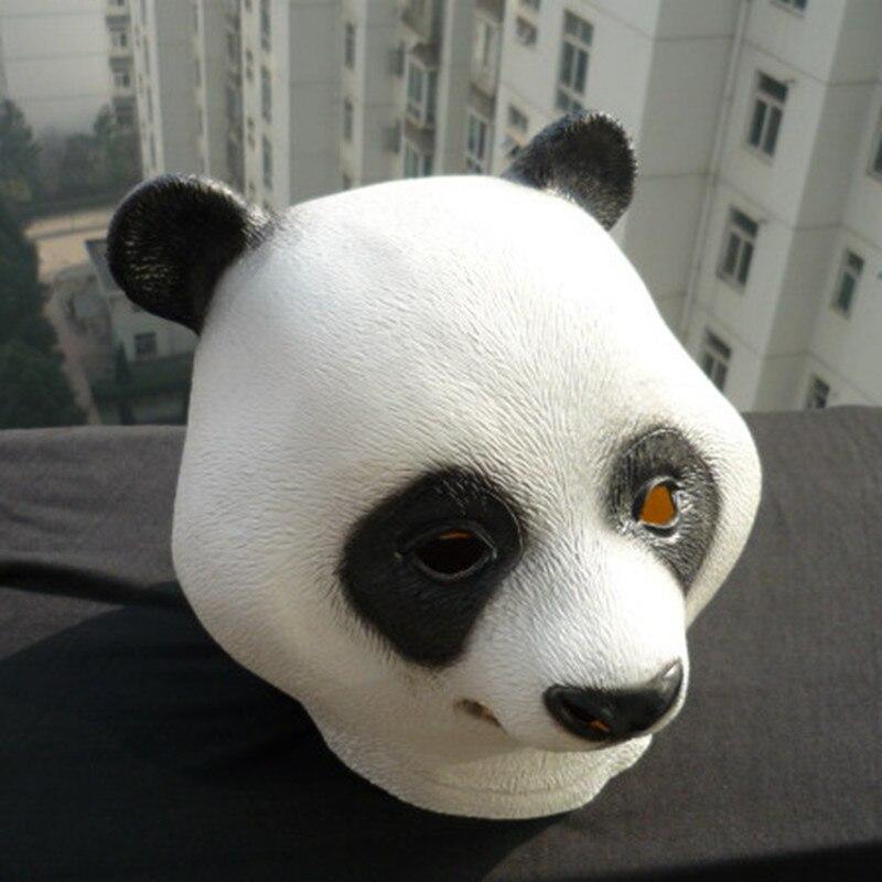 Free Shipping Funny Full Animal Head Latex Panda Mask Manufacture Masquerade Cosplay Masks