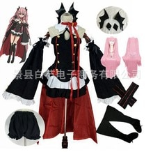 Anime Seraph Van De End Cosplay Owari Geen Seraph Cosplay Krul Tepes Uniform Jurk Outfits Met 4 Haarspelden Cosplay Kostuum