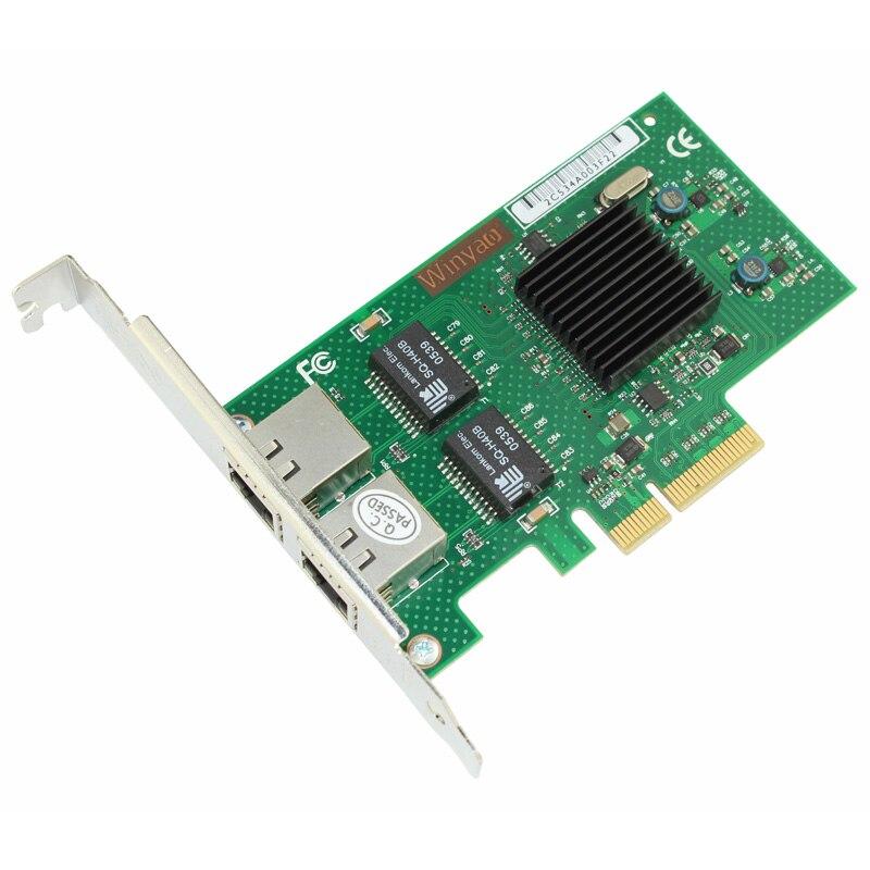 2 puertos Gigabit Ethernet adaptador de red 1000 M PCIe X4 tarjeta NIC JL82576EB Chipset