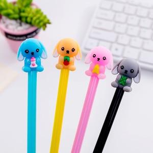 30pcs/lot Baby Dog Cartoon Neutral Pen 0.5mm Black Student Neutral Pen