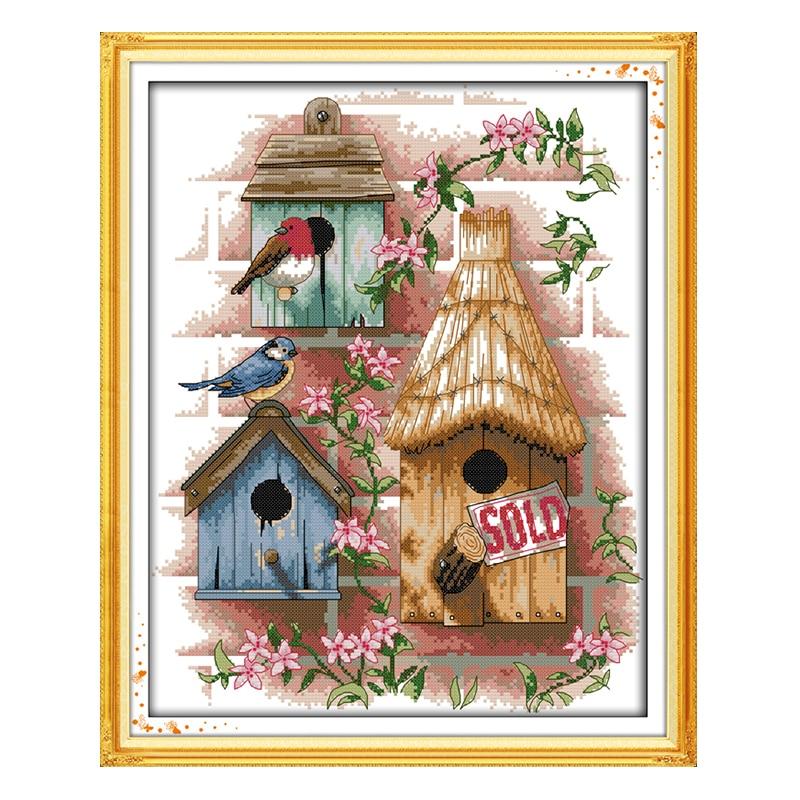 Bricolage des points de croix joie du dimanche   kit de peinture en coton 11CT pour chambre de bébé salon hôtel scénique DMC14CT, vente en gros