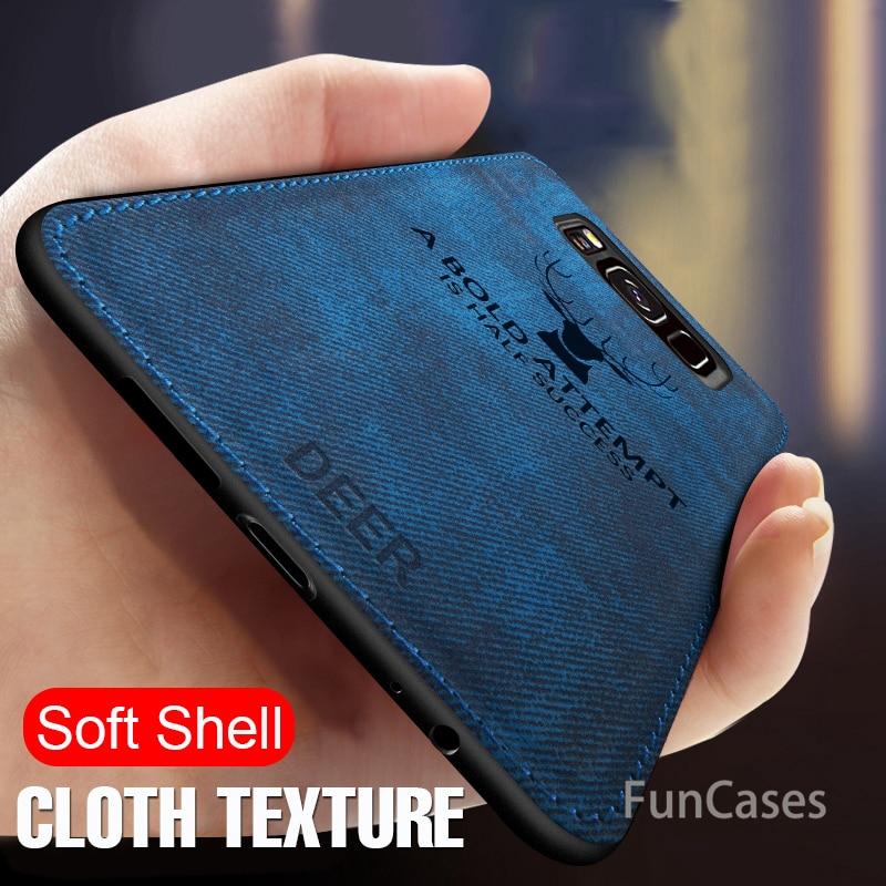 Роскошный тканевый текстурный чехол для samsung Galaxy S10e S9 S10 PLus Note 8 9 противоударный чехол для Galaxy A6 J4 2018 Мягкий силиконовый чехол