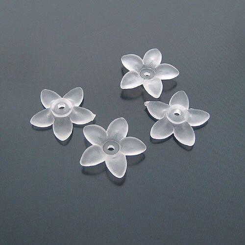 (16018) 120g, über 300PCS 18MM Rauch Weiß Acryl Blume Perlen Kappen Quaste Caps Diy Schmuck Erkenntnisse Zubehör Großhandel