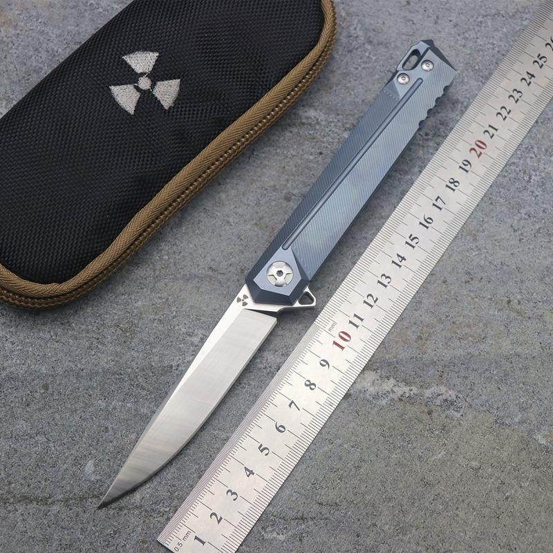 assassin-JK5311 flip folding ball bearing S35VN blade TC4 titanium alloy handle outdoor camping multi-function hunting EDC tool