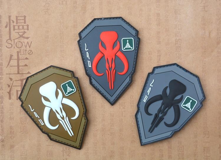 PVC Placa de recompensas insignias de cazador para mochila, ropa tapas pegatinas brazalete de tela militar Parche táctico parches insignias