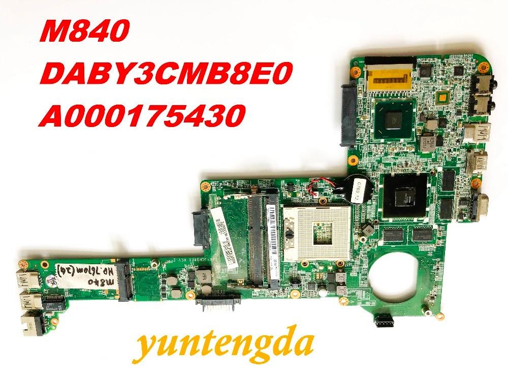 اللوحة الأم الأصلية Toshiba M840 DABY3CMB8E0 A000175430 ، موصلات تم اختبارها ، شحن مجاني