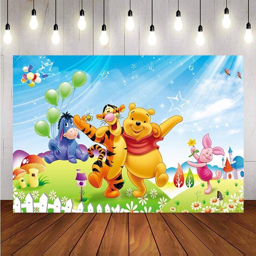 NeoBack Fotografie Hintergründe Winnie The Pooh Tigger Thema Blumen Kinder Professionelle Indoor Studio Foto Hintergrund