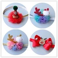 new high quality christmas party crown headband girls elk hairband hair accessories shiny hair band scrunchy fd31