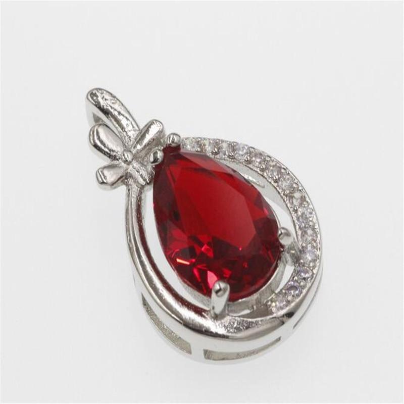 DIY klassische herz anhänger halskette gemacht mit Kristallen von Swarovski dünne box kette für NEUE frauen geschenk #3