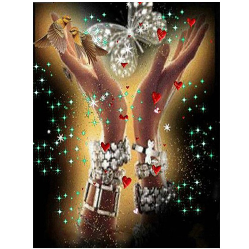 Kits de punto de cruz de pintura de diamante Diy bordado a mano mariposa costura 5D mosaico de diamantes decoración del hogar CF217
