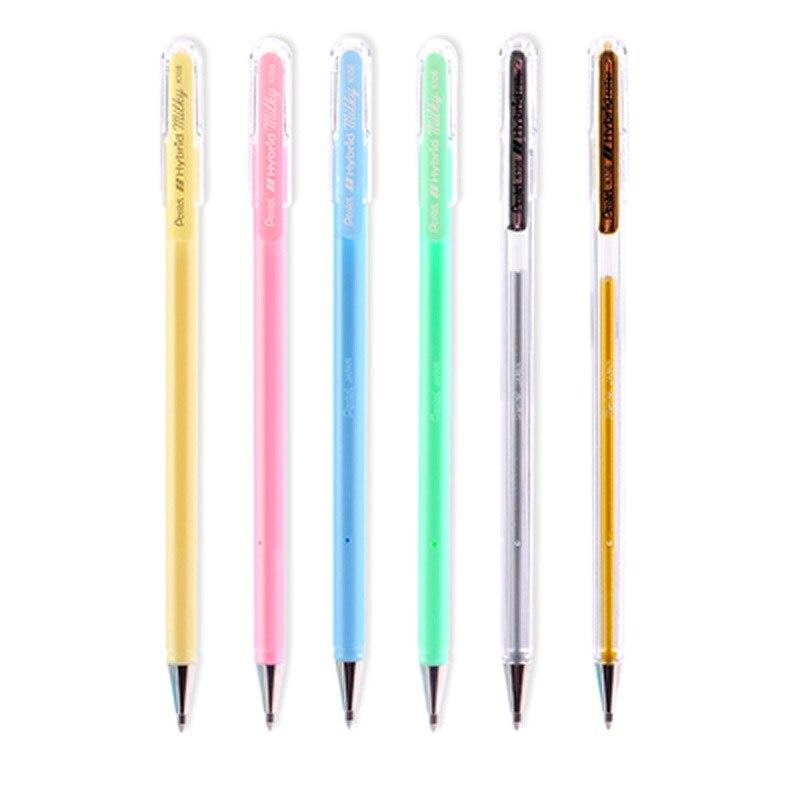 Pentel K108 Nette Candy Neutral Stift 1 stücke 0,8mm Farbe Perlglanz Zeichnung Neutral Stift Täglichen Schreiben