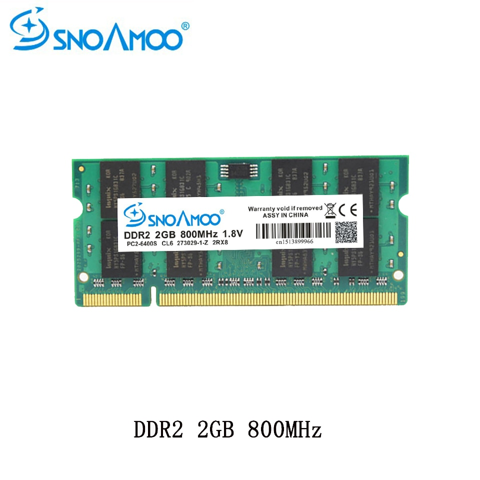 SNOAMOO portátil RAMs DDR2 1GB 2GB 4GB 667MHz PC2-5300S 800MHz PC2-6400S 200Pin...