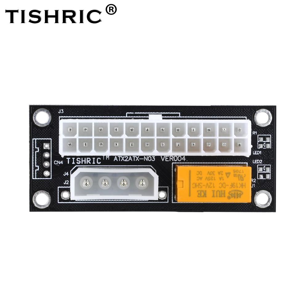 TISHRIC 2017 add2psu Black VER004 ATX 24Pin к Molex 4Pin, двойной блок питания, синхронизация стартера, удлинитель кабеля, карта для BTC Miner