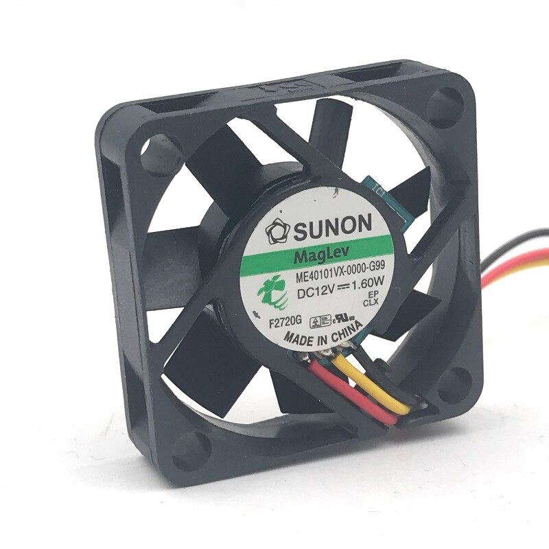 Para Sunon ME40101VX-0000-G99 40mm 4010*40*40*10mm DC12V 1,60 W mini axial caso ventilador de refrigeración de 3-P 8500RPM 9.9CFM