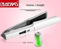 usb charging hair straightener hair curler straightening ceramic flat iron temperature control can charge for phone styling