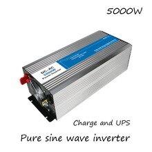 DC-AC 5000 Watt Reine Sinus-wechselrichter 12 V Zu 220 V Konverter mit Lade UPS Stromversorgung Led-digitalanzeige USB China