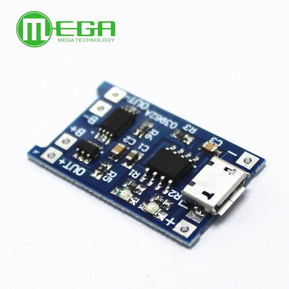 5 uds 5V 1A Micro USB 18650 Módulo de carga de la batería de litio + funciones duales de protección