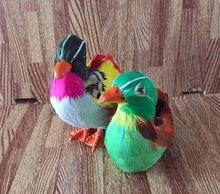 A pair of simulation Mandarin Duck polyethylene&furs Mandarin Duck model funny gift about 12cmx12cm and 10cmx13cm