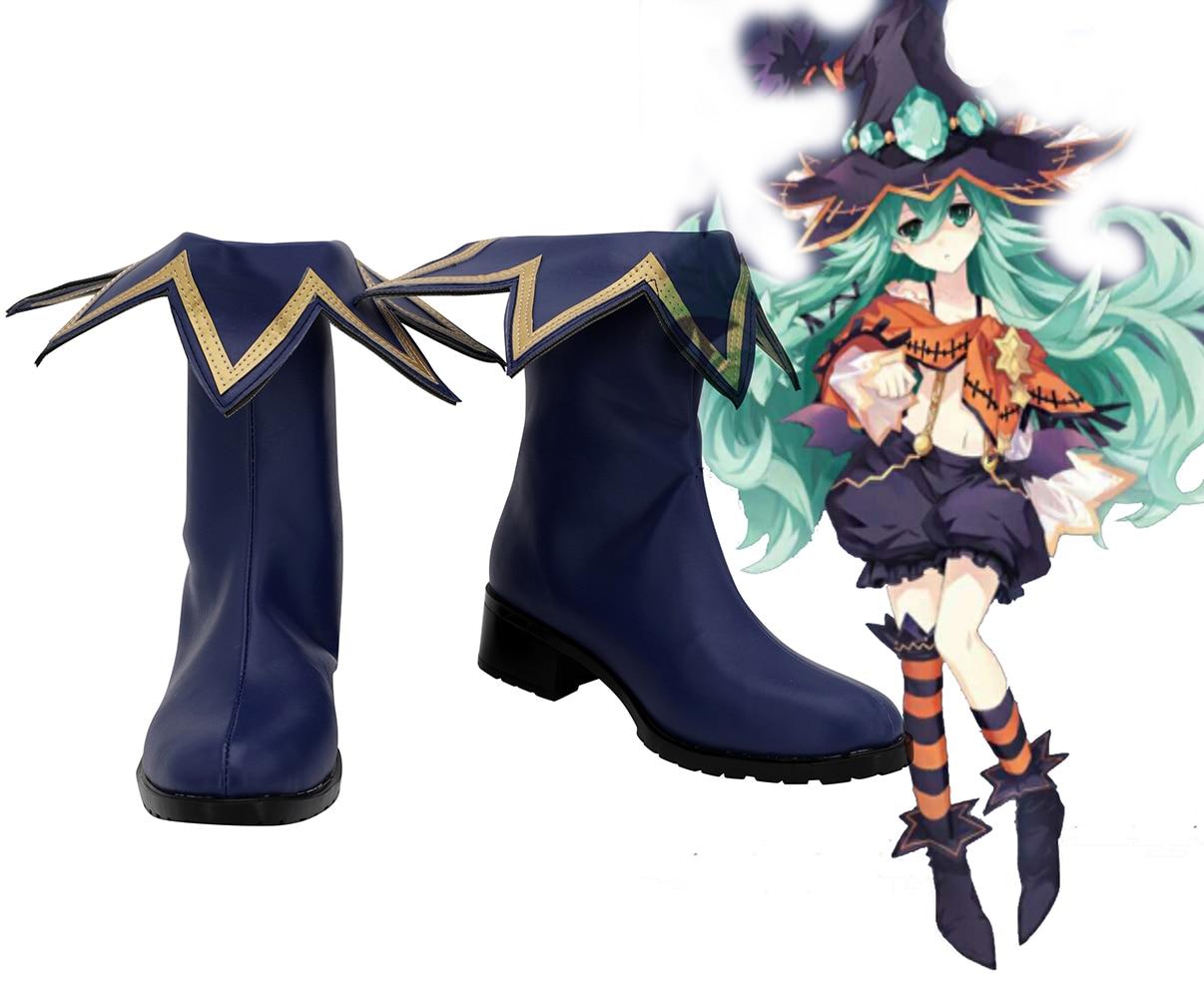 Botas azul para Cosplay de Date A Live 3 Youth Natsumi, zapatos hechos A medida para fiesta de Halloween, maquillaje Cosplay