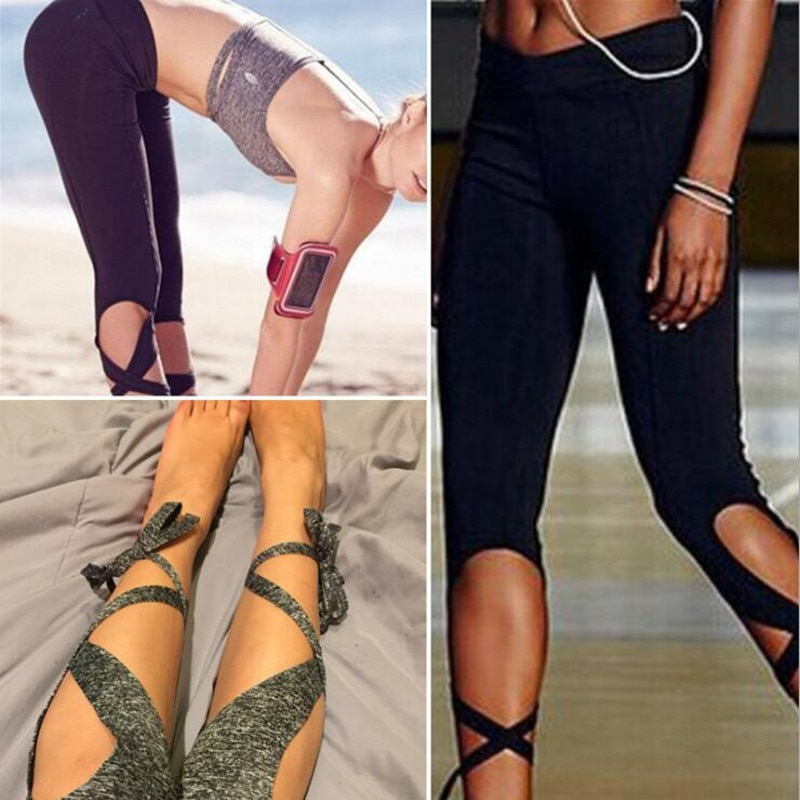 Leggings deportivos ajustados para baile para mujer, pantalones de Yoga para bailarina, leggins recortados ajustados para Fitness, pantalones cruzados para correr, gimnasio, mallas