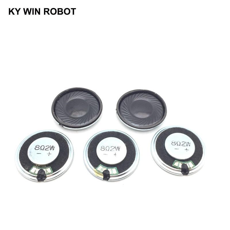 5pcs/lot New Ultra-thin speaker 8 ohms 2 watt 2W 8R Diameter 30MM 30CM thickness 5MM