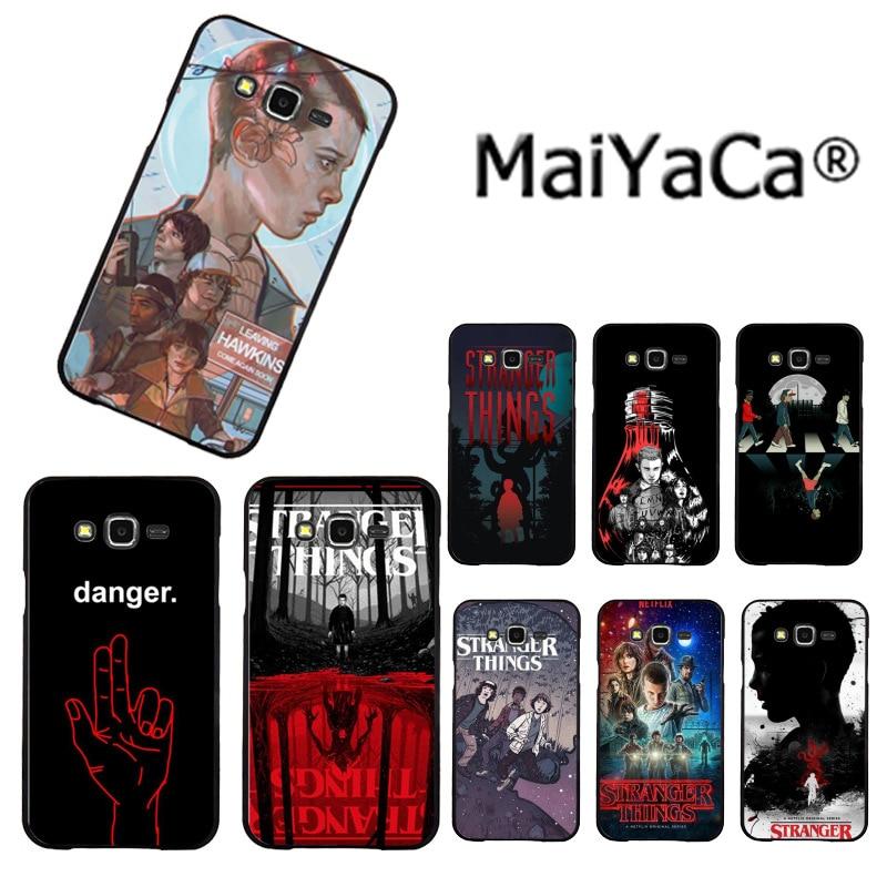 MaiYaCa Stranger Things serie tv, recién llegado, funda de teléfono de moda para Samsung 2015 J1 J5 J7 2016 J1 J3 J5 J7 Note3 4 5