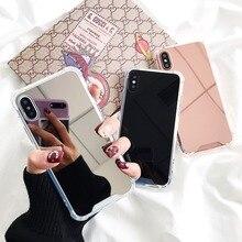 Maquiagem Espelho Capa Para iphone XS Max iphone X 10 Bling Silicone Coque Capa Para iphone 6s 6s plus iphone XR 7 8 além de Casos de 7 plus