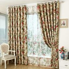Rideaux pour tissus finis   Liquidation spéciale, pour chambre à coucher, salon, jardin style européen
