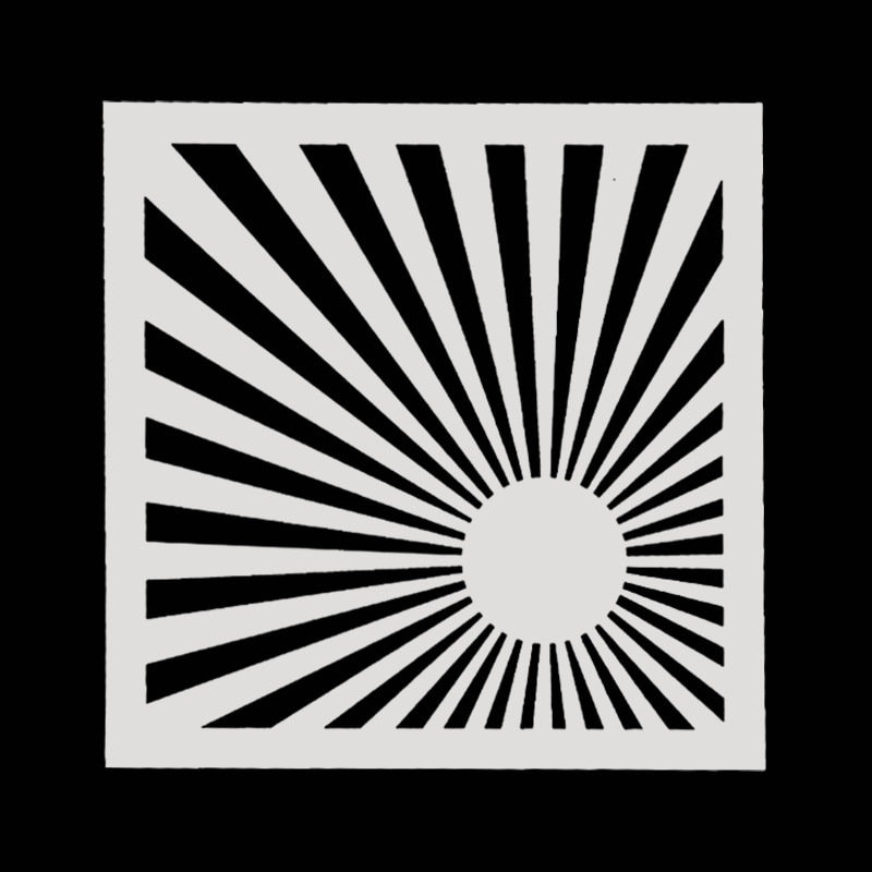 Camadas de 15*15 sol Stencils Desenho Cor Spray stencil DIY Scrapbook álbum de fotos Decorativo Embossing DIY Artesanato Cartão