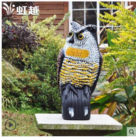 De jardín de plástico adornos patio conducir pájaro artefacto búho adornos decoración casa habitación estatua escultura