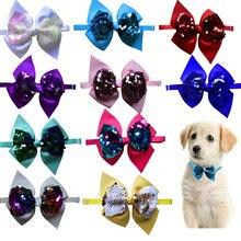 30pcs Christmas Pet dog Grooming Accessories Shining Pet Dog Cat Bowties Neckties Small Weeding Supp