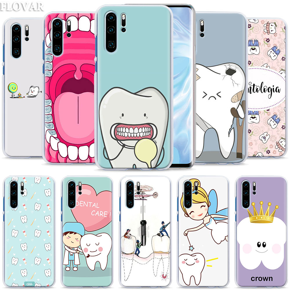 Чехол для телефона с зубными зубами для Huawei P30 Pro P10 P20 P30 Lite P8 P9 Lite P Smart Plus