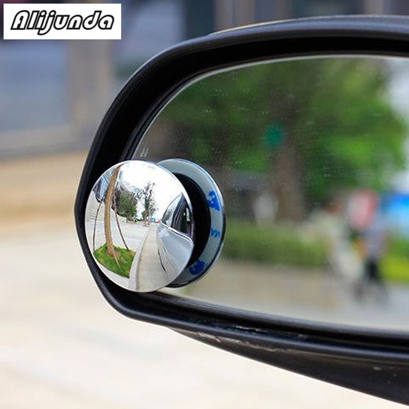 2 uds. Espejo retrovisor de 360 grados sin marco pequeño espejo retrovisor para Ford Focus Fusion Escort Kuga Ecosport Fiest