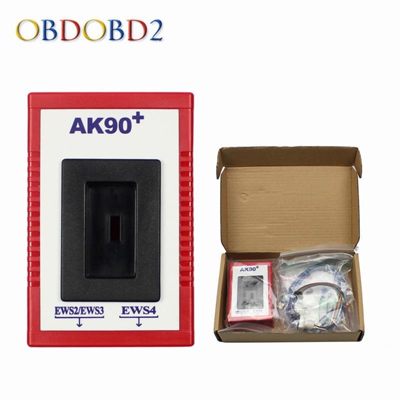 Новейший AK90 ДЛЯ BMW AK90 + автоматический ключевой программист для BMW EWS с 1995-2009 V3.19 AK90 ключевой программист Бесплатная доставка