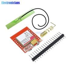미니 sim800l gprs gsm 모듈 마이크로 sim 카드 코어 쿼드 밴드 ttl 직렬 포트 안테나 pcb arduino 스마트 폰용 무선 보드