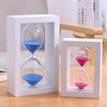 Reloj de arena de 60 minutos, reloj de arena grabado gratis, reloj de arena, temporizador de madera, adornos para decoración del hogar, accesorios