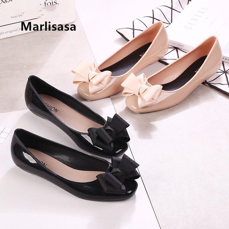 Marlisasa-Zapatos informales De baile para Mujer, zapatillas femeninas De goma negra con...